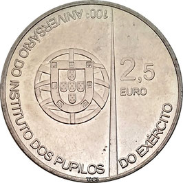Portugal 2,50 € 2011 - 100th Anniversary of the Army Institute Pupils KM#809 UNC