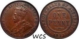 Australia 1 Penny 1933 KM#23 VF