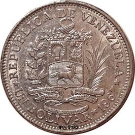 Venezuela 1 Bolivar 1967 Y#42