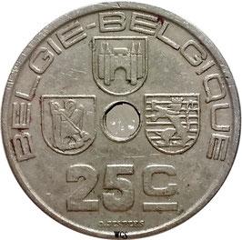 Belgium 25 Centimes 1938 BELGIE - BELGIQUE KM#115.1 VF