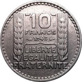 France 10 Francs 1947-1949  small Head KM#909.1