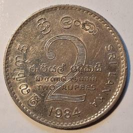 Sri Lanka 2 Rupees 1984 KM#147
