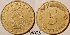 Latvia 5 Santimi 1992-2009 KM#16