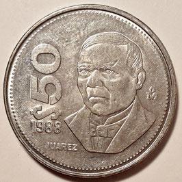 Mexico 50 Pesos 1988-1992 KM#495a
