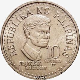 Philippines 10 Sentimos 1979-1982 BSP KM#226
