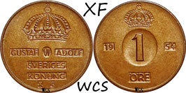 Sweden 1 Öre 1952-1971 KM#820