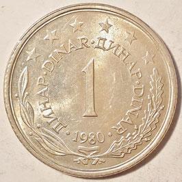 Yugoslavia 1 Dinar 1973-1981 KM#59