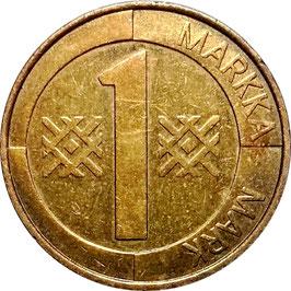Finland 1 Markka 1993-2001 KM#76