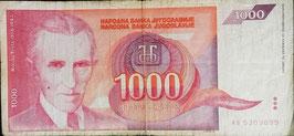 Yugoslavia 1000 Dinara 1992 P.114