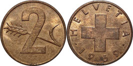 Switzerland 2 Rappen 1948-1974 KM#47