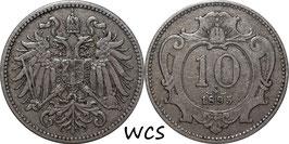 Austria 10 Heller 1892-1911 KM#2802