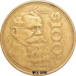 Mexico 100 Pesos 1984-1992 KM#493