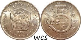Czechoslovakia 5 Korun 1966-1990 KM#60