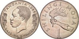 Tanzania 1 Shilling 1966-1984 KM#3