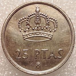 Spain 25 Pesetas 1982-1984 KM#824