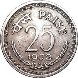 India 25 Paise 1972-1988 KM#49.1
