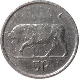 Ireland 5 Pence 1992-2000 KM#28