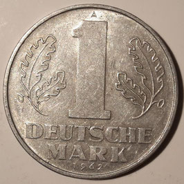 GDR 1 Mark 1956, 1962, 1963 KM#13
