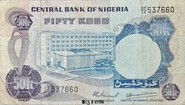 Nigeria 50 Kobo 1973-1978 P.14d F