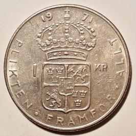 Sweden 1 Krona 1968-1973 KM#826a