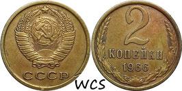 Soviet Union 2 Kopeks 1966 Y#127a VF