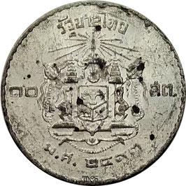 Thailand 10 Satang 1950 Tin Y#73 F