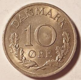 Denmark 10 Öre 1960-1972 KM#849