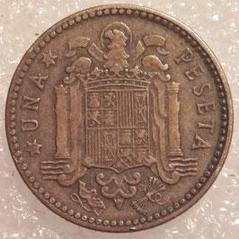 Spain 1 Peseta 1947, 1953 & 1963 KM#775
