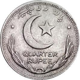 Pakistan ¼ Rupee 1948-1951 KM#5