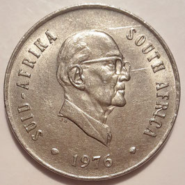 South Africa 20 Cents 1976 - The end of Jacobus Johannes Fouche's Presidency KM#95 VF