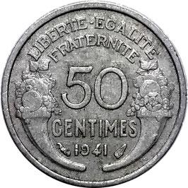 France 50 Centimes 1941-1947 KM#894.1a