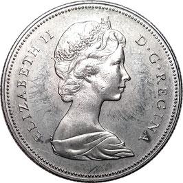 Canada 50 Cents 1968 KM#75.1 XF