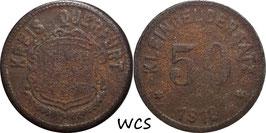 Saxony - Querfurt 50 Pfennig 1918 Funck#435.4 VG