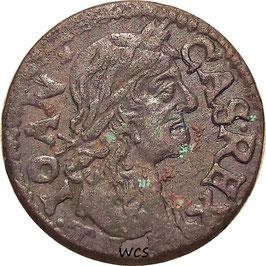 Polish–Lithuanian 1 Solidus 1665 KM#110 VF- - John II Casimir Vasa, Mint: Brest, Belarus