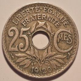 France 25 Centimes 1917-1937 KM#867a