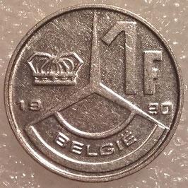 Belgium 1 Franc 1989-1993 BELGIE KM#171