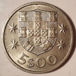 Portugal 5 Escudos 1963-1986 KM#591