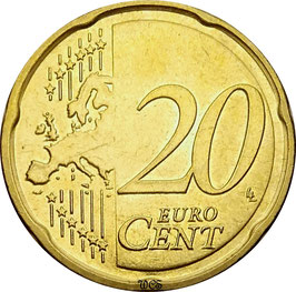 Germany 20 Cents 2007-Date KM#255