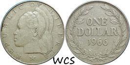 Liberia 1 Dollar 1966 KM#18a.1 VF