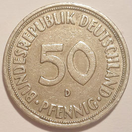 Federal Republic 50 Pfennig 1950-1971 KM#109.1