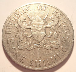 Kenya 1 Shilling 1978-1989 KM#20