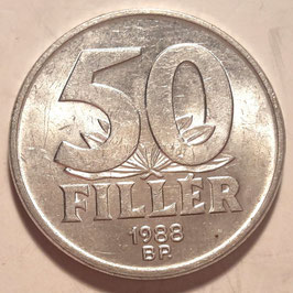 Hungary 50 Filler 1967-1989 KM#574