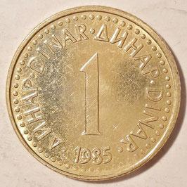 Yugoslavia 1 Dinar 1982-1986 KM#86