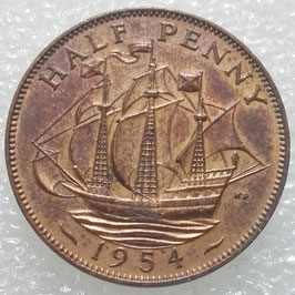 Great Britain ½ Penny 1954-1967 KM#896