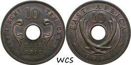 East Africa 10 Cents 1964 H KM#40 XF+