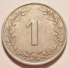 Tunisia 1 Millim 1960 KM#280