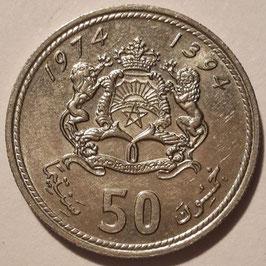 Morocco 50 Santimat 1974 (1394) Y#62