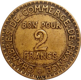 France 2 Francs 1920-1927 KM#877