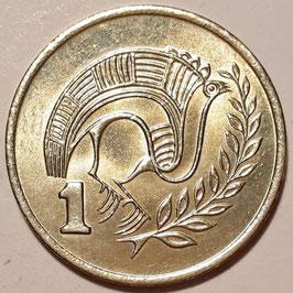 Cyprus 1 Cent 1983-2004 KM#53