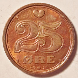Denmark 25 Öre 1990-2008 KM#868.1-868.2